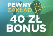 Betclic Pewny Zakład - zwrot do 40 PLN dla każdego!